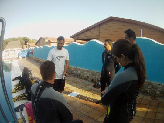 bautizo de piscina, buceo caños de meca, buceo en tarifa